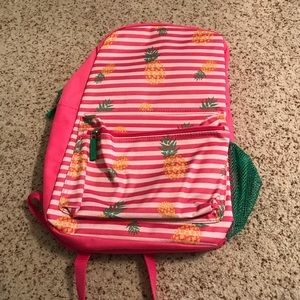 Children's size striped pineapple school backpack